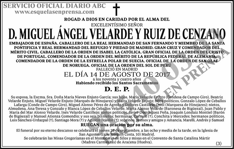 Miguel Ángel Velarde y Ruiz de Cenzano